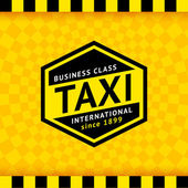 Taxi symbol with checkered background - 20 — Stock Vector