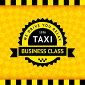 Taxi symbol with checkered background - 21 — Stock Vector