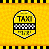 Taxi symbol with checkered background - 23 — Stock Vector
