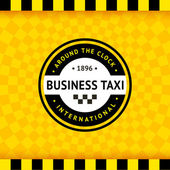 Taxi symbol with checkered background - 24 — Stock Vector