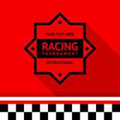 Racing stamp-04 — Stock Vector