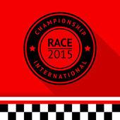 Racing stamp-05 — Stok Vektör