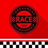 Racing stamp-07 — Stok Vektör