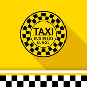 Taxi badge with shadow - 06 — Stock Vector