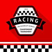 Racing badge 05 — Stock Vector