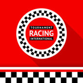 Racing badge 06 — Vector de stock