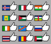 Flags in the Thumbs up-08 — Stock Vector