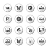 Shopping flat icons set 03 — Stock Vector