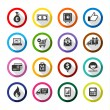 Shopping flat color icons set 01 — Stock Vector #43393473
