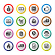 Shopping flat color icons set 01 — Stock Vector