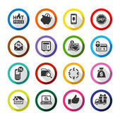 Shopping flat color icons set 02 — Stock Vector