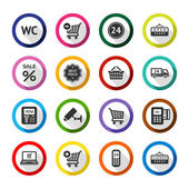 Shopping flat color icons set 03 — Stok Vektör