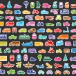 Transport icons set colored stickers — Stock Vector