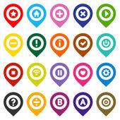 Map pins, color set — Stock Vector