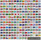 Flaggor platt uppsättningar — Stockvektor