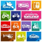 Transport flat ikonen, ljusa färg-04 — Stockvektor