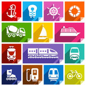 Transport flat icon, bright color-01 — Stock Vector
