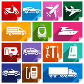 Transport flat icon, bright color-09 — Stock Vector
