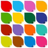 Adesivi colorati di bianco — Vettoriale Stock