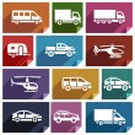 Transport flat icon-03 — Stock Vector