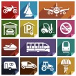 Постер, плакат: Transport flat icon 08