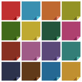 16 retro boş kare renkli — Stockvector