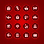 Ange alla hjärtans dag ikoner, romantiska resor — Stockvektor  #8855498