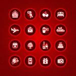 Set valentine's day icons, romantic travel — 图库矢量图片 #8855498