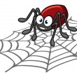 Stockvektor : Spider cartoon