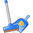 Broom and dustpan — Stock Vector