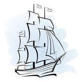 Vector ship — Stock Vector