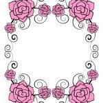 Rose flower frame — Stock Vector