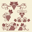 Grape vine elements - Image vectorielle