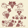 Grape vine elements - Stock Vector