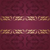золотая рама — Cтоковый вектор