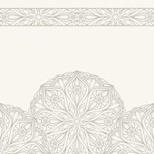 Semicircle ornament. — Stock Vector