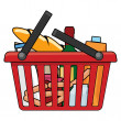Shopping basket — Stockvektor
