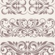 Set vintage ornate border frame filigree — Stock Vector