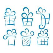 Set of gift boxes — Stock Vector