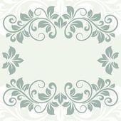 花のグリーティング カード — ストックベクタ