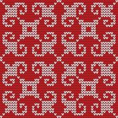 Seamless knitted pattern. — Stock Vector
