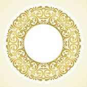 Round floral frame. — Stock Vector
