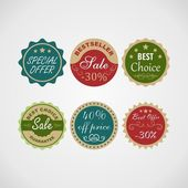 Sale labels set. — Stock Vector