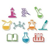 Science and chemistry icon set. — Stock Vector