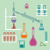 Chemistry lab equipment. — Stock Vector