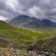 Stock Photo: Rainy skies over alpine tundra