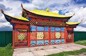 Gate of Buddhist temple — Stock Photo