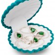 Stock Photo: Velvet jewelry box