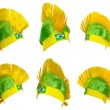 Headgear fof Brazilinational team — Stock Photo #41527283