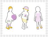 Bambini alla moda — Vettoriale Stock